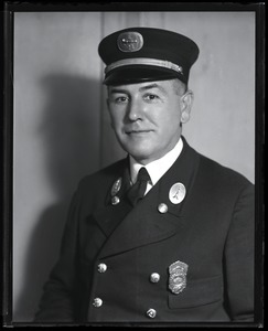 Thumbnail of Fire fighter Thomas N. Nary Half-length studio portrait of Nary in uniform: Nary served with Engine 24 from       1925-1933