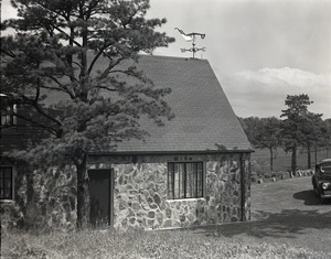 Thumbnail of Stone-walled building, possibly at Kenneth Roberts' home