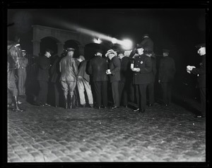 Thumbnail of In front of the prison on the night of the execution of Sacco and Vanzetti