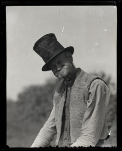 Thumbnail of Reuben Austin Snow, the cross-dressing hermit of Cape Cod, in top hat