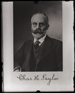Thumbnail of Charles H. Taylor Copy of studio portrait with autograph