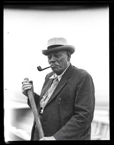 Thumbnail of George Fred Tilton Portrait of 'one of the last whaling captains' smoking a pipe
