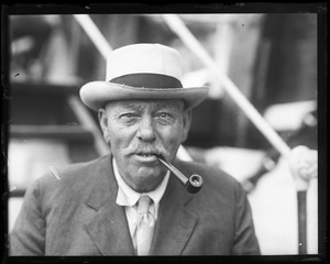 Thumbnail of George Fred Tilton Portrait of 'one of the last whaling captains' smoking a pipe (close-up)