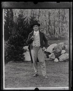 Thumbnail of Edward E. Whiting wearing old fashioned costume