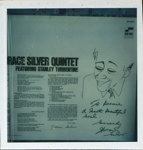 Thumbnail of Horace Silver: album (Serenade to a Soul Sister) with inscription to Bernie Moss