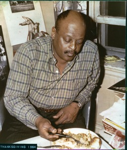 Thumbnail of Ben Webster: eating Thanksgiving dinner at Bernie Moss's apartment