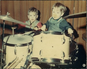 Thumbnail of Two toddlers banging on drums at the Jazz Workshop