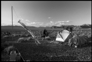 Thumbnail of Tent and grounds at the Nevada Test Site peace encampment