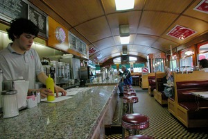 Thumbnail of View down the counter at the Miss Florence Diner