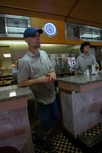 Thumbnail of Restaurant staff at the counter, Miss Florence Diner