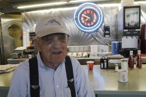Thumbnail of Whately Diner: older man seated at the counter