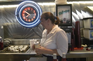 Thumbnail of Whately Diner: waitress behind the counter