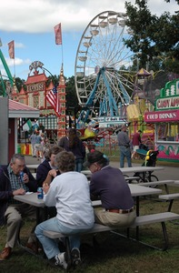 Thumbnail of Franklin County Fair: eating at the picnic tables
