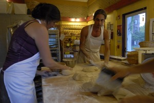 Thumbnail of Hungry Ghost Bread: Cheryl Maffei and Jonathan C. Stevens preparing bread dough