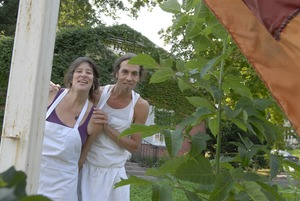 Thumbnail of Hungry Ghost Bread: owners Jonathan C. Stevens and Cheryl Maffei outside the bakery