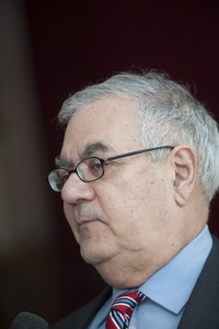 Thumbnail of Close-up of Congressman Barney Frank at UMass Amherst