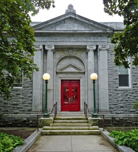 Thumbnail of Belding Memorial Library: front entrance