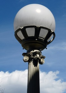 Thumbnail of Griswold Memorial Library: exterior lighting fixture