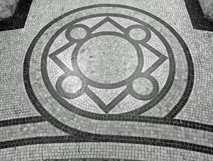 Thumbnail of Field Memorial Library: tilework on the floor inside the rotunda