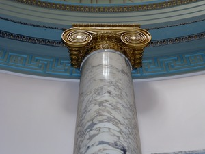 Thumbnail of Field Memorial Library: head of  Ionic column inside the rotunda