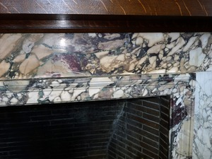 Thumbnail of Field Memorial Library: marble surround to the fireplace