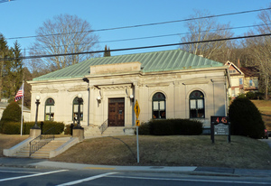 Thumbnail of Gilbertville Public Library: exterior of front entrance