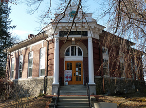 Thumbnail of Paige Memorial Library: exterior view of library entrance