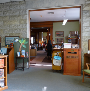 Thumbnail of Lee Library: interior of library at the junction between the old and new             buildings