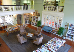 Thumbnail of Lenox Library: interior of reading room from the mezzanine