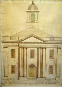 Thumbnail of Lenox Library: front elevation from original plan for building