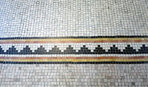 Thumbnail of Dickinson Memorial Library: close-up of tile work