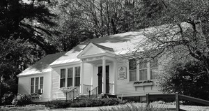 Thumbnail of Rowe Town Library: exterior of library in fall