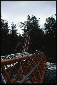 Thumbnail of Ruins of the weather tower for the proposed nuclear power plant in Montague,             Mass., felled by Sam Lovejoy