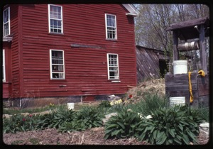 Thumbnail of Plantings and the well by the side of the house, Montague Farm Commune