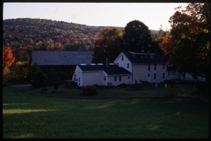 Thumbnail of Commune house and barn as seen from the fields behind, Montague Farm Commune