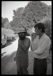 Thumbnail of Tony Mathews (right) and unidentified man, Montague Farm Commune