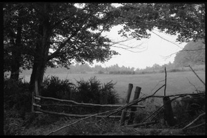 Thumbnail of View over fence and field, Montague Farm Commune