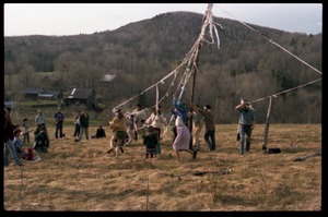 Thumbnail of Dancing around the maypole, May Day celebrations, Montague Farm commune