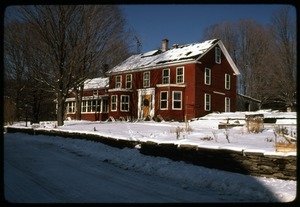 Thumbnail of Commune house in the snow, Montague Farm Commune