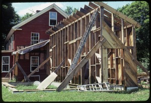 Thumbnail of Framing addition to the house, Montague Farm Commune