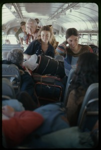 Thumbnail of  Being transported: Occupation of the Seabrook Nuclear Power Plant Occupiers on a bus after their release from being held in the armory