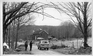 Thumbnail of Mail delivery truck approaching Montague Farm Commune