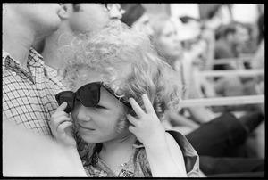 Thumbnail of Young girl with dark sunglasses, before Taj Mahal concert, Newport Folk Festival