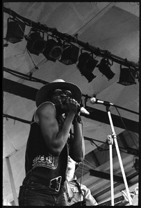 Thumbnail of Taj Mahal performing at the Newport Folk Festival