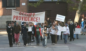 Thumbnail of Occupy Providence members march on Brown University