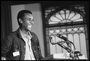 Thumbnail of Stokely Carmichael speaking at the Youth, Non-Violence, and Social Change             conference, Howard University