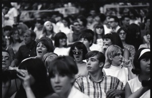 Thumbnail of Beatles fans at the concert at D.C. Stadium