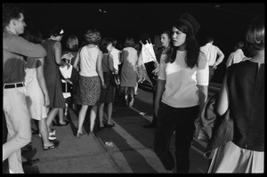 Thumbnail of Crowd milling about prior to the Beatles concert at the Washington Coliseum