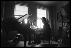 Thumbnail of Stephen Stills playing piano in Judy Collins's New York apartment