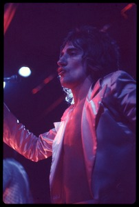Thumbnail of Rod Stewart in satin jacket, performing with Faces